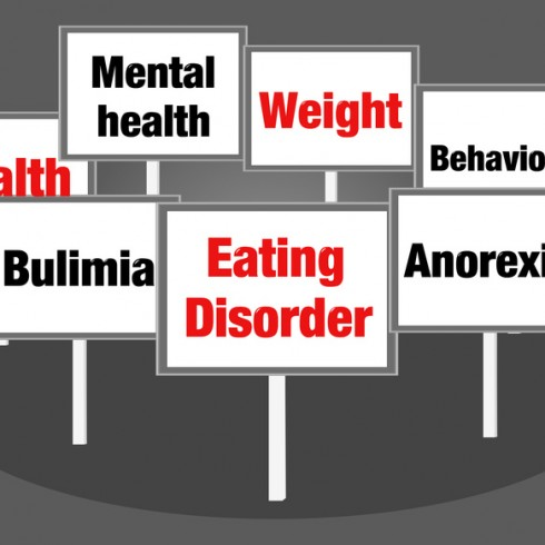 Eating disorder concept signs