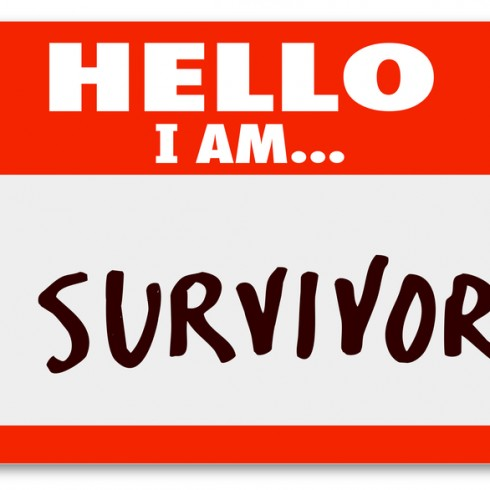 Hello I Am a Survivor Nametag Surviving Disease Perseverance