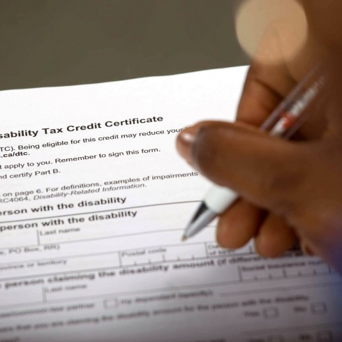 Disability Tax Credit T2201 application form
